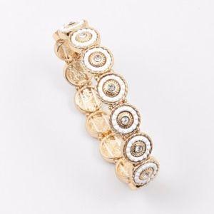 Jewelry - TWO TONE CRYSTAL BRACELET